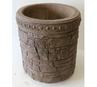 Бетонная декоративная цветочница из камня древний пласт Д-058. 40 литров