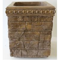 Бетонная декоративная уличная цветочница древний пласт Д-056. 50 литров
